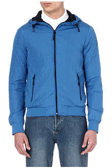 ARMANI JEANS Embossed zip-up jacket