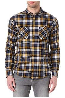 ARMANI JEANS Checked pocket shirt