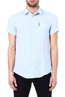 ARMANI JEANS Linen pocket shirt