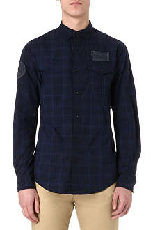 ARMANI JEANS Checked cotton shirt