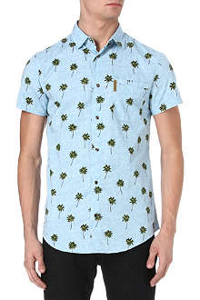 ARMANI JEANS Palm tree-print shirt