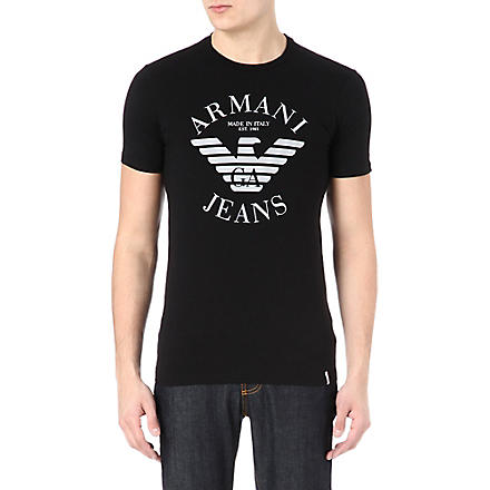 ARMANI JEANS Eagle logo t-shirt (Black