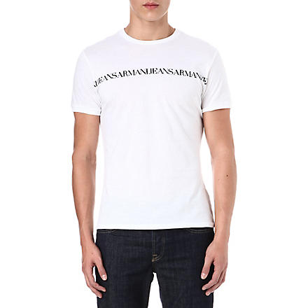 ARMANI JEANS Repeat logo t-shirt (White