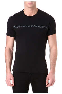 ARMANI JEANS Repeat logo t-shirt