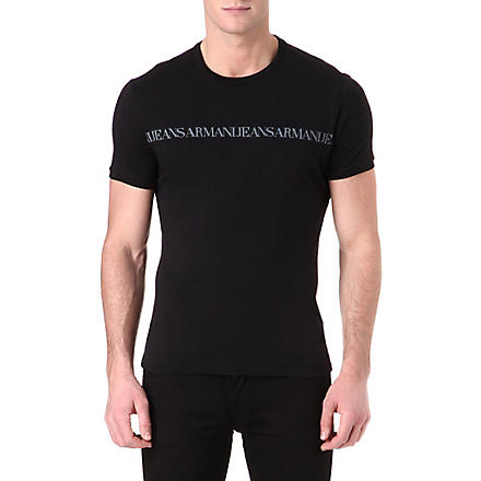 ARMANI JEANS Repeat logo t-shirt (Black