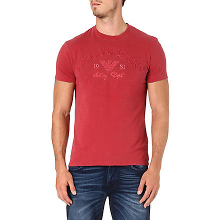 ARMANI JEANS Rope logo t-shirt (Red