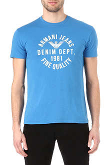 ARMANI JEANS Logo crew-neck cotton t-shirt