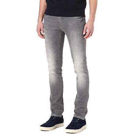 ARMANI JEANS J10 extra slim-fit tapered jeans (Grey