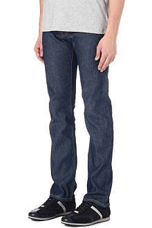 ARMANI JEANS J45 regular-fit straight chambray jeans