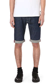 ARMANI JEANS Striped-trim denim shorts
