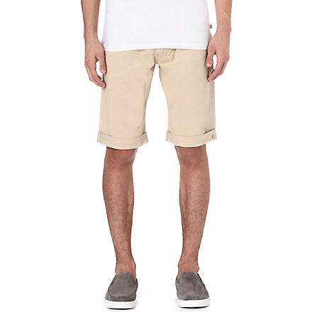ARMANI JEANS Cotton-twill shorts (Beige
