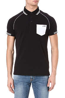 ARMANI JEANS Contrast-pocket polo shirt