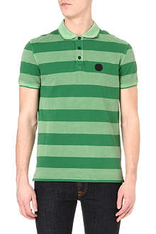 ARMANI JEANS Striped piqué polo shirt