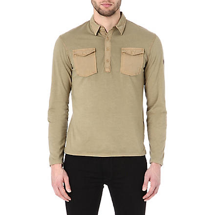 ARMANI JEANS Patch-pocket polo shirt (Beige