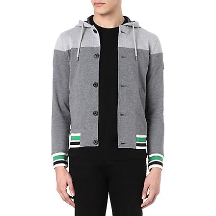 ARMANI JEANS Hooded varsity sweatshirt (Grey