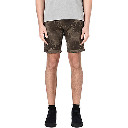 ARMANI JEANS Camouflage patterned shorts (Brown