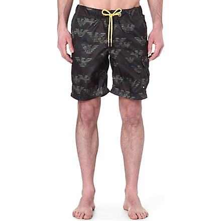ARMANI JEANS Eagle swim shorts (Green