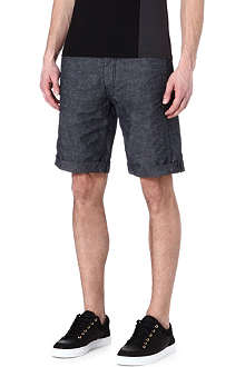 ARMANI JEANS Relaxed cotton shorts