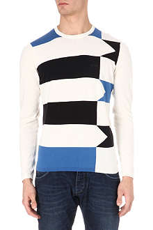 ARMANI JEANS Striped knitted jumper