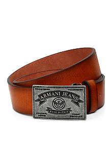 ARMANI JEANS Made in Italy leather belt