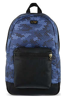 ARMANI JEANS Eagle print backpack