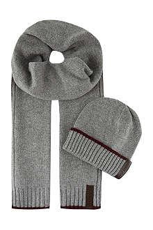 ARMANI JEANS Beanie & scarf box set