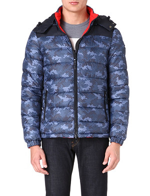 ARMANI JEANS Eagle reversible quilted jacket