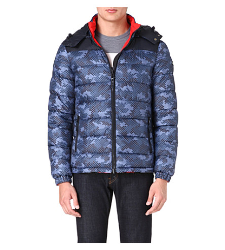 ARMANI JEANS Eagle reversible quilted jacket (Blue