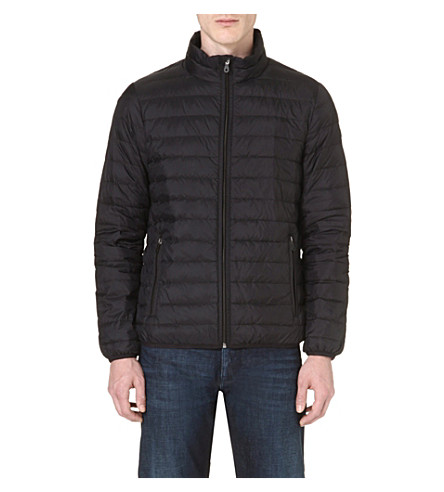 ARMANI JEANS Down quilted jacket (Black/dark green