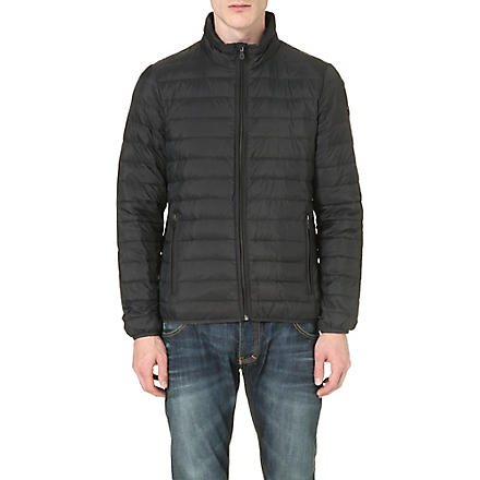 ARMANI JEANS Down quilted jacket (Gray/blue