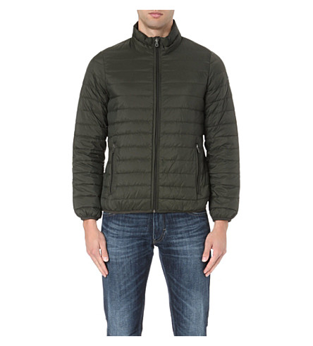 ARMANI JEANS Quilted jacket (Dark green/black