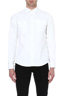 ARMANI JEANS Elbow-patch Oxford shirt