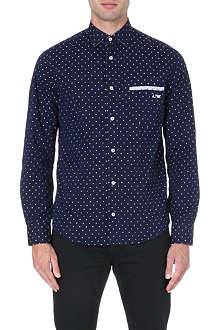 ARMANI JEANS Printed cotton shirt
