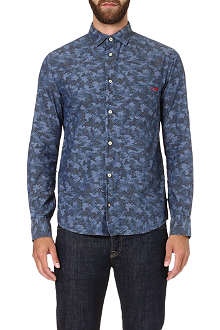 ARMANI JEANS Eagle-print cotton shirt