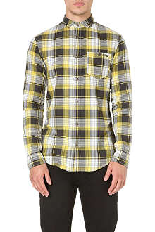 ARMANI JEANS Checked flannel shirt