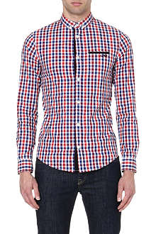 ARMANI JEANS Gingham stretch-cotton shirt