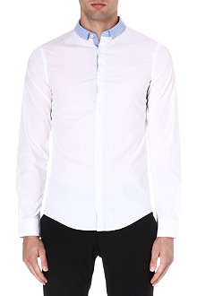 ARMANI JEANS Slim-fit contrast collar shirt