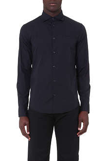 ARMANI JEANS Slim-fit poplin shirt