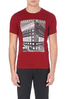ARMANI JEANS Photo-print t-shirt