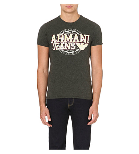 ARMANI JEANS Appliqué logo t-shirt (Grey