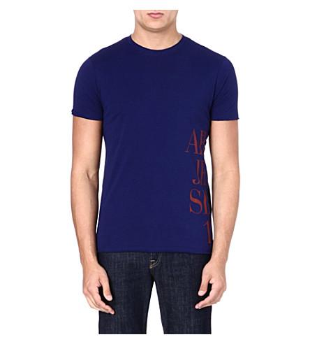ARMANI JEANS Side logo t-shirt (Blue