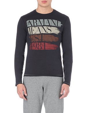 ARMANI JEANS Printed long-sleeved top