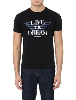 ARMANI JEANS Live The Dream t-shirt
