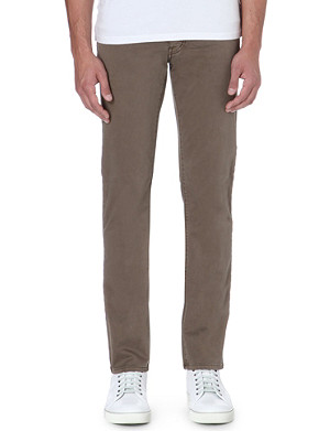 ARMANI JEANS Slim-fit sateen chinos