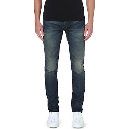 ARMANI JEANS Anti-fit tapered jeans (Blue