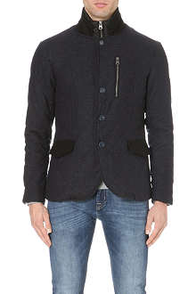 ARMANI JEANS Diamond quilted flannel jacket