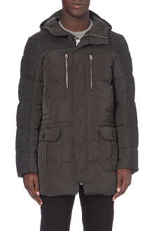 ARMANI JEANS Houndstooth quilted coat