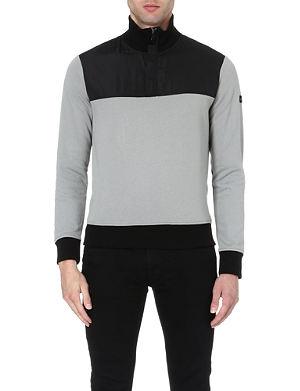 ARMANI JEANS Contrast panelled sweatshirt