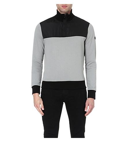 ARMANI JEANS Contrast panelled sweatshirt (Grey