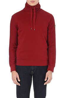 ARMANI JEANS Drawstring roll-neck sweatshirt